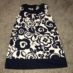 NAVY BLUE & WHITE sleeveless dress size 6
